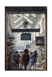 The Shopping Arcade 'Des Panoramas' in Paris, 1807 Giclee Print by Philibert Louis Debucourt