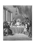 Jesus and His Disciples at the Last Supper, 1866 Giclee Print by Gustave Doré