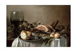 Breakfast with Ham, 1647 Giclee Print by Pieter Claesz