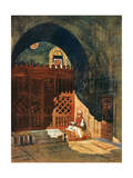 Reading the Koran in a Mosque, Cairo, Egypt, 1928 Giclee Print by Louis Cabanes