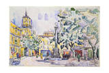Square of the Hotel De Ville in Aix-En-Provence, Early 20th Century Giclee Print by Paul Signac