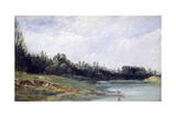 Landscape at the Edge of Water, C1823-1869 Giclee Print by Paul Huet