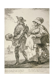 Two Spoon Sellers, Cries of London, 1760 Giclee Print by Paul Sandby