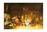 Henry VIII and Anne Boleyn Observed by Queen Catherine, 1870 Giclee Print by Marcus Stone