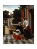 A Mistress and Her Maid, 1660 Giclee Print by Pieter de Hooch