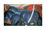 Blue Horses, 1911 Giclee Print by Marc Franz