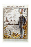 Admiral Francois Darlan, Commander of the French Navy, 1940 Giclee Print by Pierre Falke
