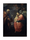 The Holy Family Beneath a Palm Tree, (Rest on the Flight into Egyp), Late 16th Century Giclee Print by Lodovico Carracci