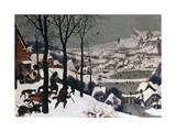 Metsästäjät lumessa, helmikuu 1565 Giclee-vedos tekijänä Pieter Bruegel the Elder