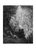 Jacob's Dream of a Stairway Leading to Heaven with God at the Top, 1865-1866 Giclee Print by Gustave Doré