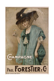 Champagne, 19th Century Giclee Print by Nicolas-Toussaint Charlet