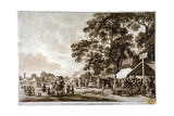 Army Camp in Hyde Park, London, 1780 Giclee Print by Paul Sandby