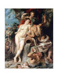 The Union of Earth and Water (Antwerp and the Scheld), C1618 Impression giclée par Peter Paul Rubens