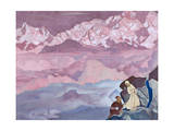 She Who Leads, 1924 Giclee Print by Nicholas Roerich