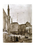 Entrance to the City, Cairo, Egypt, 1928 Giclee Print by Louis Cabanes