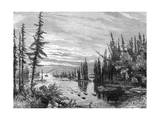 Thousand Islands Region, Ontario, Canada, 19th Century Giclee Print by Paul Huet