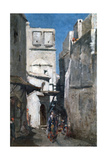 Street in Algiers, C1864-1892 Giclée-tryk af Marc Alfred Chataud