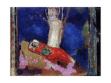 A Woman Lying under the Tree, 19th or Early 20th Century Giclee Print by Odilon Redon