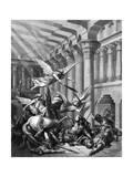 Heliodorus Attempting to Take Treasure from the Temple at Jerusalem, 1865-1866 Reproduction procédé giclée par Gustave Doré