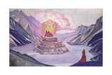 Nagarjuna Conqueror of the Serpent, 1925 Giclee Print by Nicholas Roerich
