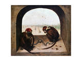 Two Monkeys, 1562 Giclee Print by Pieter Bruegel the Elder
