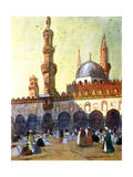 The Mosque of Al-Azhar, Cairo, Egypt, 1928 Giclee Print by Louis Cabanes