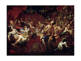 The Feast of Belshazzar, 17th or Early 18th Century Giclee Print by Pietro Dandini