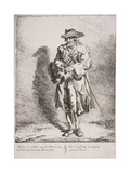 Flint and Steel Seller, Cries of London, 1760 Giclee Print by Paul Sandby