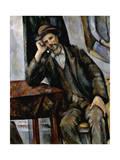 A Smoker, 1890-1892 Giclee Print by Paul Cézanne