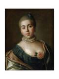 Portrait of Countess Anna Golitsyna, Baroness Stroganova, 1759 Giclee Print by Pietro Rotari