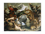 Tiger, Lion and Leopard Hunt, 1616 Giclee Print by Peter Paul Rubens