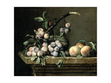 Plums, Melon and Peaches, C1630-1680 Giclee Print by Pierre Dupuis