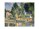 Jas De Bouffan, the Pool, C1876 Giclee Print by Paul Cézanne