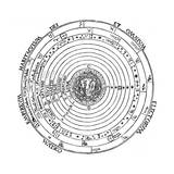 Diagram Showing Geocentric System of Universe, 1539 Giclee Print by Petrus Apianus