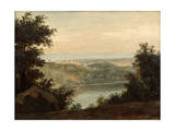 Lake Nemi, in the Background the City of Genzano, Late 18th-Early 19th Century Giclee Print by Pierre Henri de Valenciennes