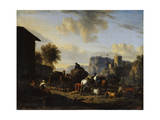 The Rest of the Convoy, 17th Century Giclee Print by Nicolaes Berchem