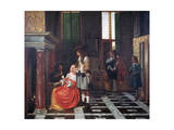 The Card Players, C1663-1665 Giclee Print by Pieter de Hooch