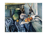 Still Life with a Flagon and Aubergines, 1890-1894 Giclee Print by Paul Cézanne