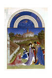 April, 1412-1416 Giclee Print by Paul Limbourg