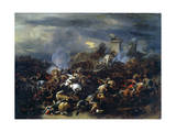 Battle Between Alexander and Porus, 326 BC Giclee Print by Nicolaes Berchem