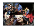 Feast in the House of Simon the Pharisee, Between 1618 and 1620 Giclee Print by Peter Paul Rubens
