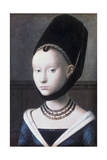 Portrait of a Young Girl, C1460 ジクレープリント : ペトルス・クリストゥス