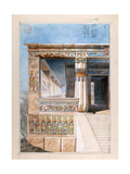 Ancient Egyptian Temple, 19th Century Giclee Print by Nestor l'Hote