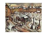 Snow in Munich, 1909 Giclee Print by Othon Friesz