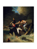 The Death of Duke Leopold of Brunswick During a Flood in Brunswick, Germany, 1785 Giclee Print by Pierre Alexandre Wille