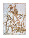 Fighting Figures, 1527-1585 Giclee Print by Luca Cambiaso