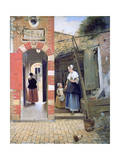Courtyard of a House in Delft, 1658 Giclee Print by Pieter de Hooch