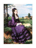 Lady in Violet, 1874 Giclee Print by Pal Szinyei Merse