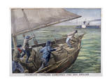 French Fishermen Fired on by the British, 1899 Giclee Print by Oswaldo Tofani