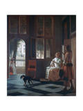 A Woman Directing a Young Man with a Letter, 1670 Giclee Print by Pieter de Hooch